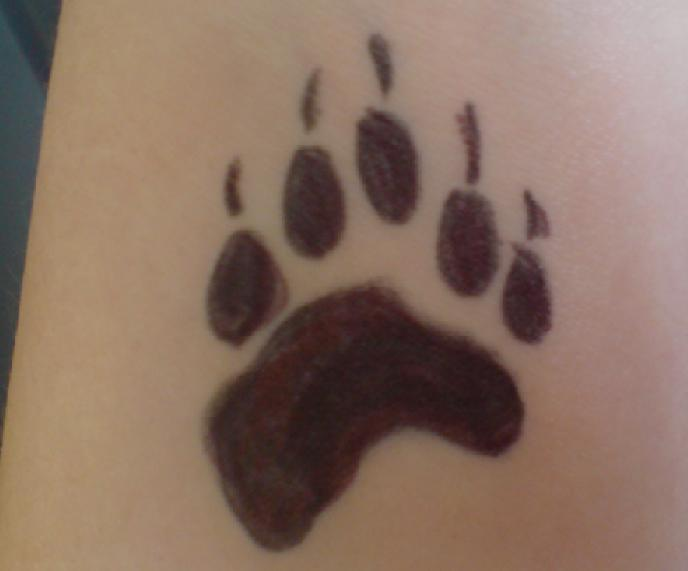 Have A Bear Paw Tattoo!