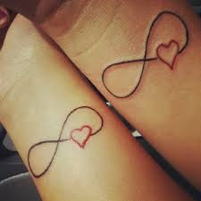 Heart Infinity Symbol Tattoos For Couple