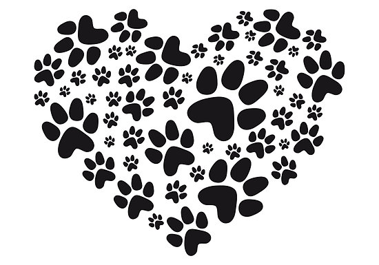Heart Of Paw Tattoo Design