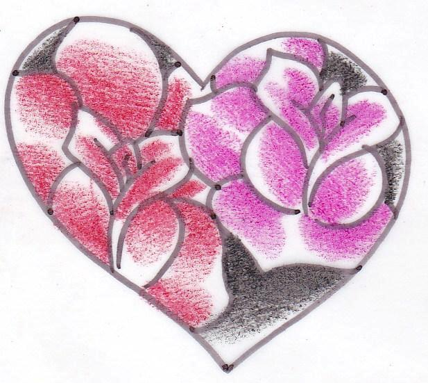 Heart Of Roses Tattoo Design