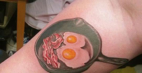 Hilarious Food Tattoo