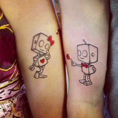 Hilarious Robots Love Tattoos On Arm