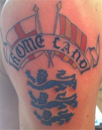 Home Land Patriotic Tattoos On Arm