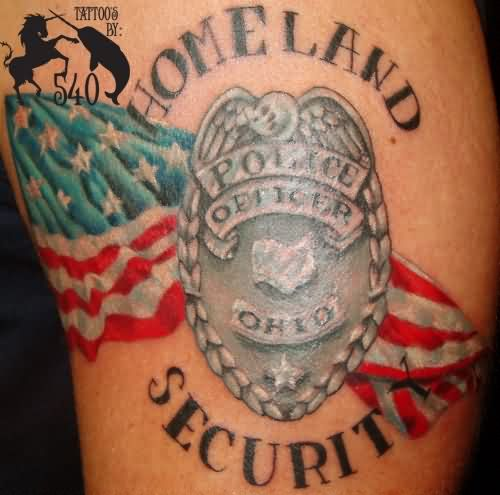 Homeland Patriotic Tattoo
