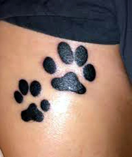 Impressive Dark Black Paw Tattoos