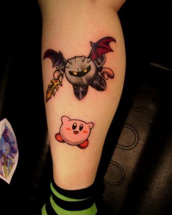 Impressive Video Game Tattoos On Leg