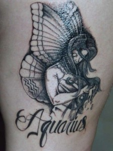 Incredible Aquarius Symbol Tattoo