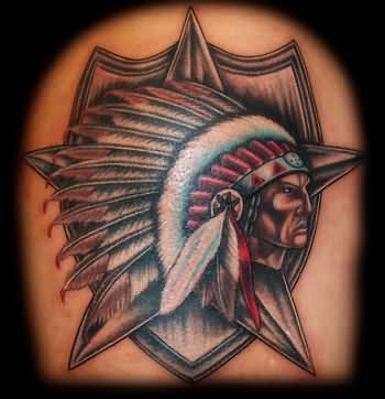 Incredible Native American Tattoo