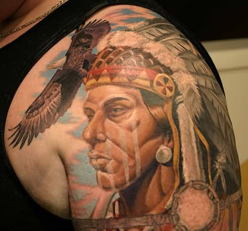 Incredible Native American Tattoos On Shoulder