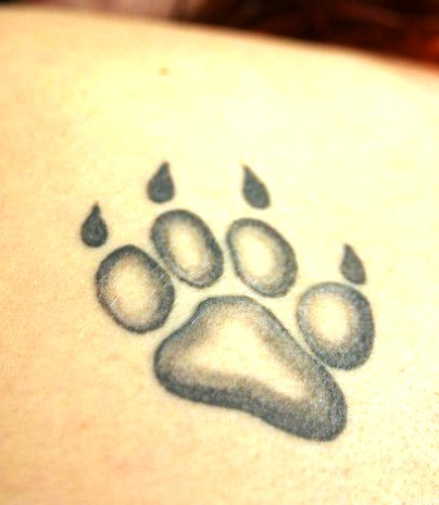 Incredible Panther Paw Tattoo