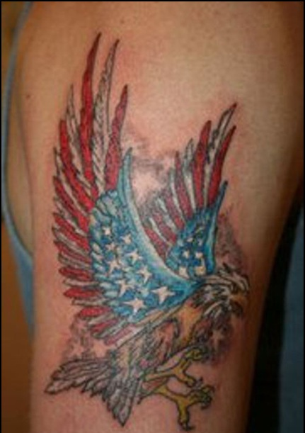 Incredible Patriotic Tattoo On Biceps