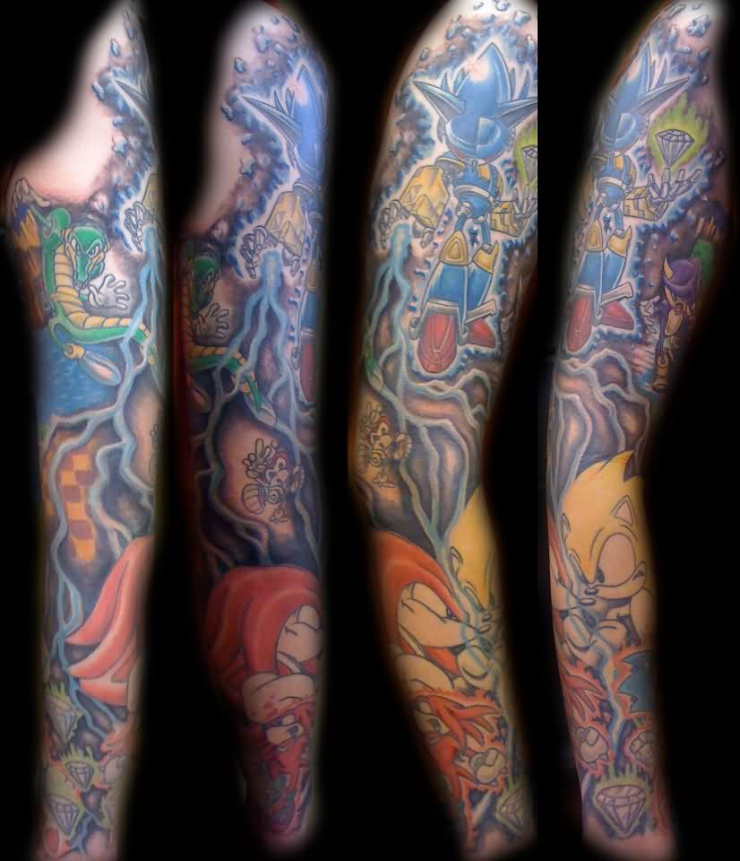 Incredible Video Game Sleeve Tattoos