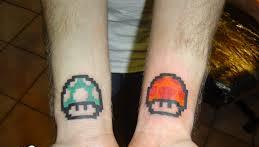 Inner Wrist Video Game Mushroom Tattoos