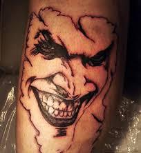 Insane Smiling Joker Tattoo