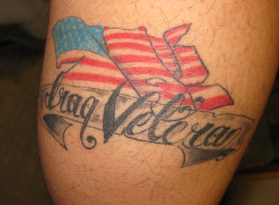 Iraq Veteran Patriotic Tattoo