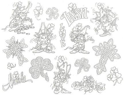 Irish Tattoos Sheet