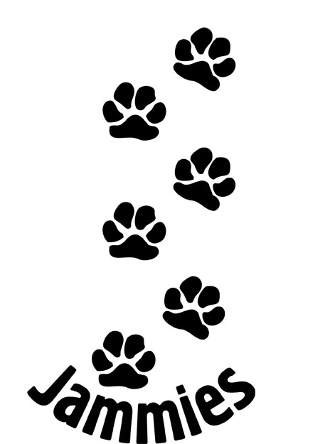 Jammies Paw Print Tattoo Designs