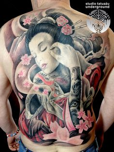 Japanese Tattoos On Entire Back