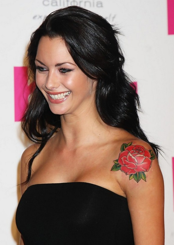 Jessica Jane's Red Rose Tattoo