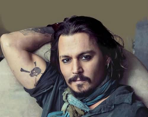 Johnny Depp's Biceps Tattoo