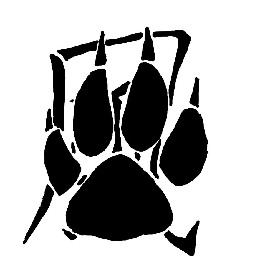 Kaze Dog Paw Tattoo Stencil