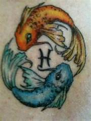 Koi Fish Piscec Zodiac Tattoo