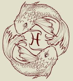 Koi Fish Pisces Sign Tattoo Designs