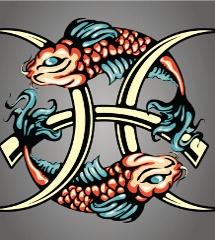 Koi Fish Zodiac Symbol Tattoo Designs