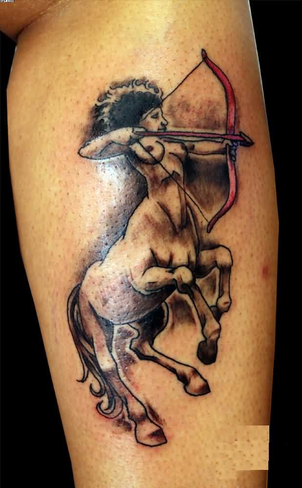 Lady Sagittarius Tattoo