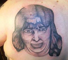Large Bad People Portrait Tattoo