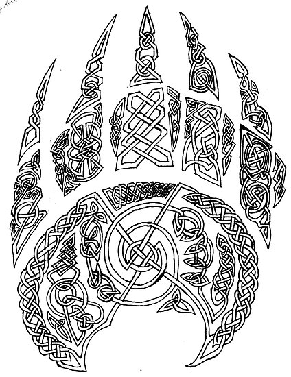 Large Celtic Bear Claw Tattoo Sample