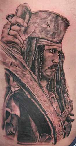 Large Original Pirate Tattoo