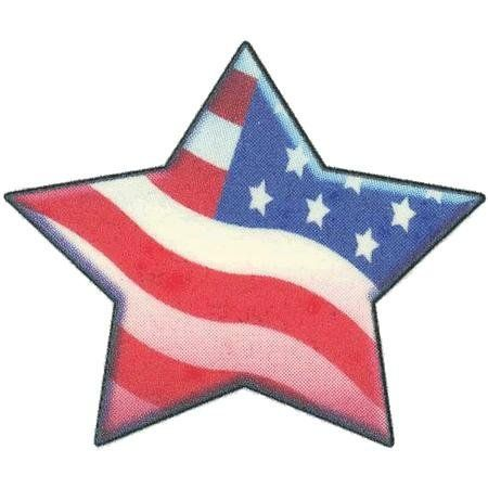 Large Patriotic Star Tattoo Design