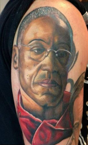 Large Portrait Tattoo On Arm