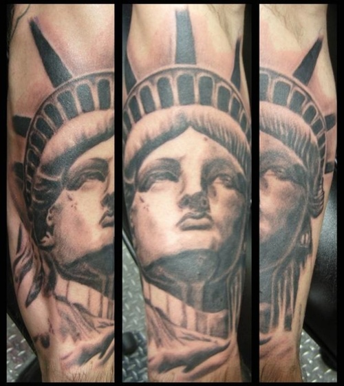 Large Statue Of Liberty Tattoos