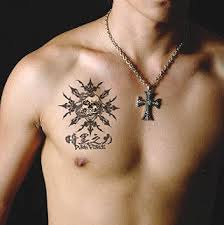 Latest Japanese Kanji Chest Tattoo Style For Guys