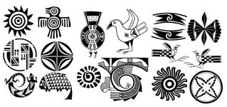 Latest Native American Symbol Tattoos Set