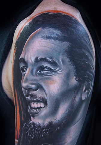 Latest People Portrait Tattoo On Arm