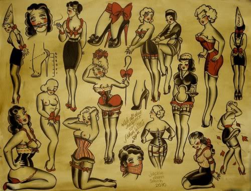 Latest Pin Up Girl Tattoos Flash