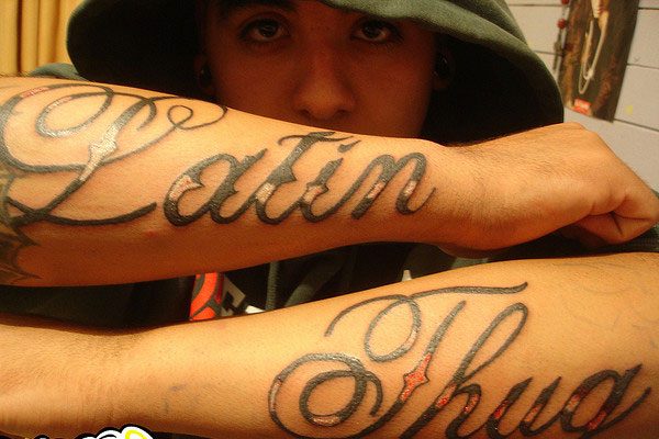 Latin Thug Tattoos On Arm