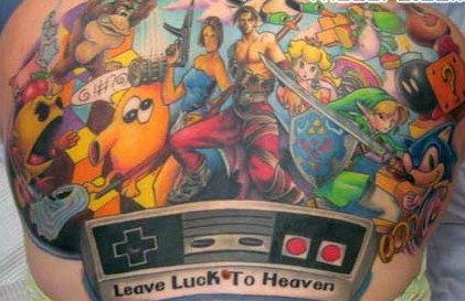 Leave Luck To Heaven - Video Game Tattoos