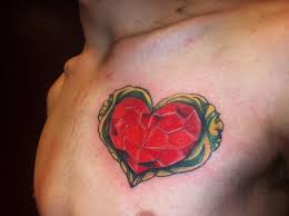 Legend Of Zelda Heart Tatoo On Chest