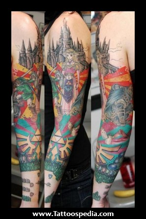 Legend Of Zelda Sleeve Tattoos For Girls And Women