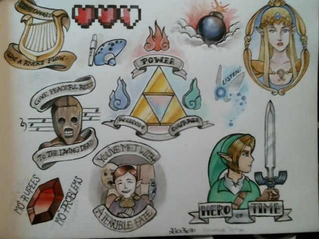 Legend Of Zelda Tattoo Flash