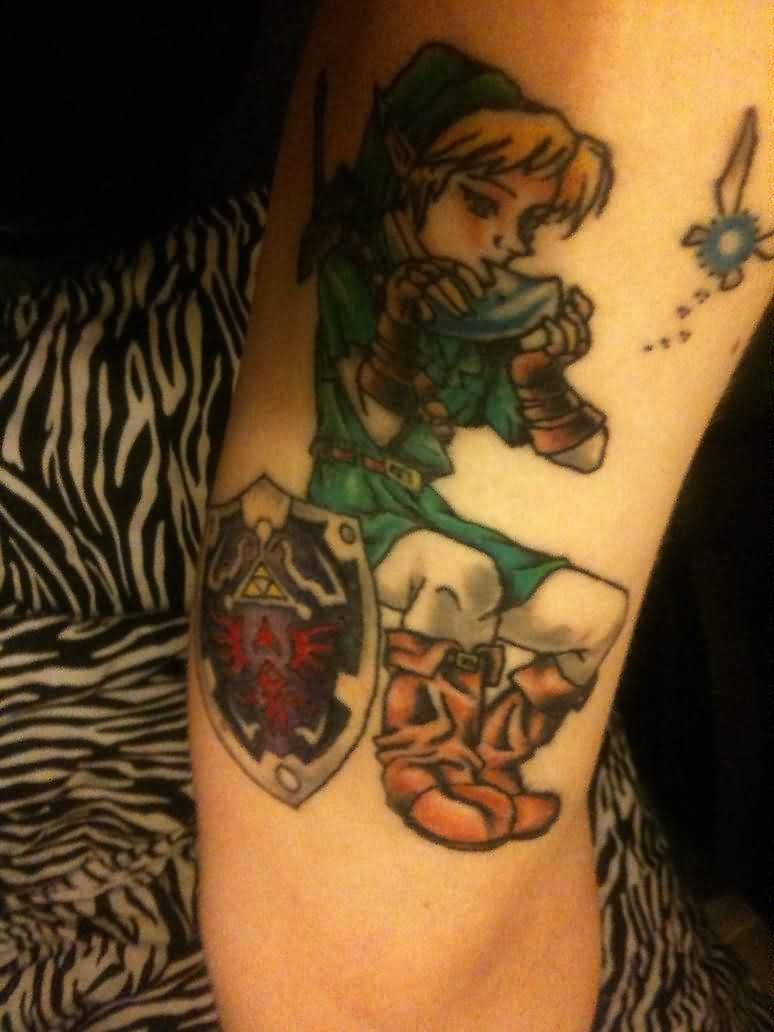 Legend Of Zelda Tattoo On Arm