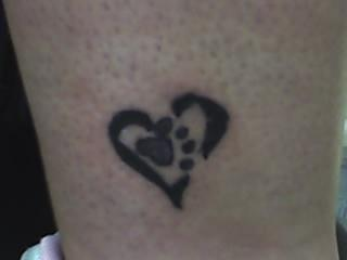 Little Paw Heart Tattoo