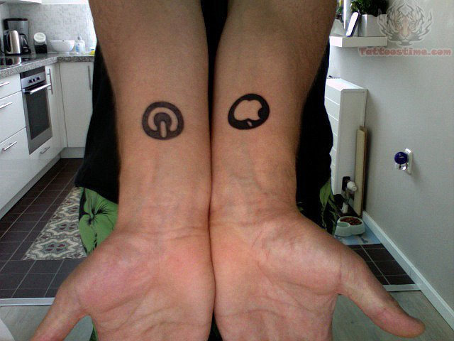 Little Symbol Tattoos On Forearms