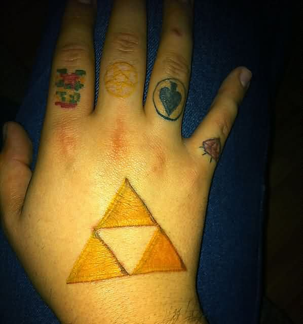 Little Video Game And Triforce Tattoos