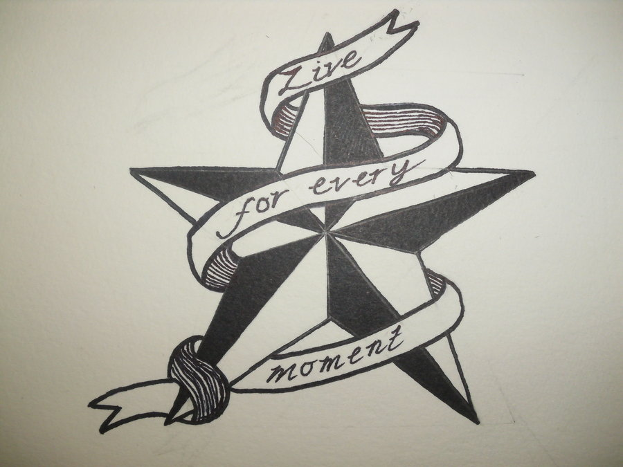 Live Every Moment Nautical Tattoo Design