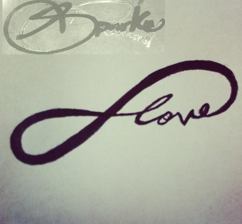 Love Infinity Symbol Tattoo Poster